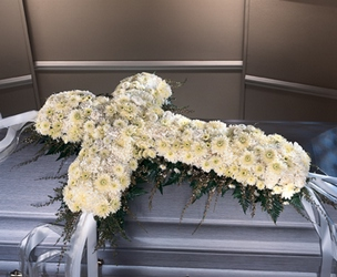 Elegant Floral Cross from Hafner Florist in Sylvania, OH
