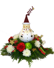 Frosty's Festive Centerpiece from Hafner Florist in Sylvania, OH