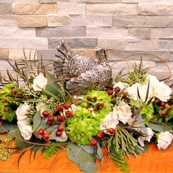 Gobble Gobble Centerpiece from Hafner Florist in Sylvania, OH