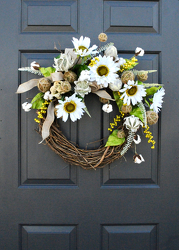 White Wreath from Hafner Florist in Sylvania, OH