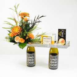 Thanksgiving Wine Caddy from Hafner Florist in Sylvania, OH