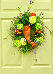 Carrot Wreath from Hafner Florist in Sylvania, OH