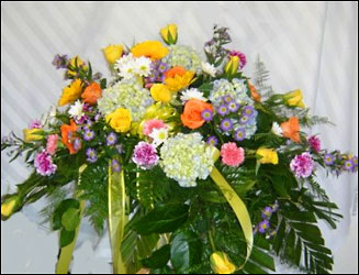 Garden Casket Spray from Hafner Florist in Sylvania, OH