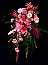 Vibrant Pink Easel Spray  from Hafner Florist in Sylvania, OH