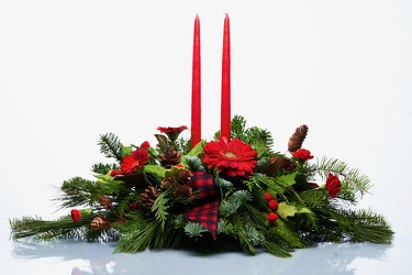 Happy Holiday Centerpiece from Hafner Florist in Sylvania, OH