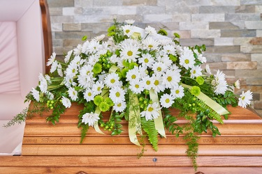 Serene Meadow Casket Spray from Hafner Florist in Sylvania, OH