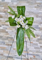 Serene Meadow Cross from Hafner Florist in Sylvania, OH
