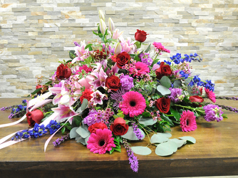 Lovely Garden Casket Spray from Hafner Florist in Sylvania, OH