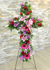 Lovely Garden Cross from Hafner Florist in Sylvania, OH