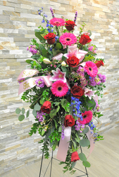 Lovely Garden Easel Spray from Hafner Florist in Sylvania, OH