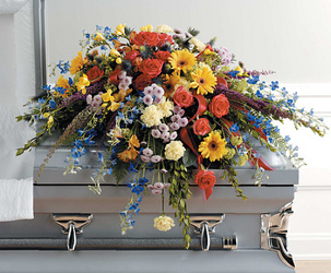 Wildflower Casket Spray  from Hafner Florist in Sylvania, OH