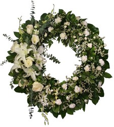 Simply White Wreath  from Hafner Florist in Sylvania, OH