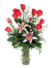 Roses and Lilies from Hafner Florist in Sylvania, OH